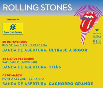 Stones no Brasil - Cartaz de Divulgação