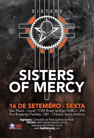 The Sisters of Mercy em SP - Reprodução do cartaz do show