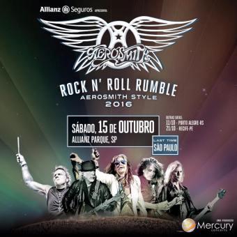Aerosmith no Brasil - Cartaz de Divulgação