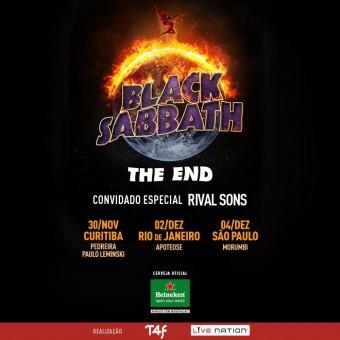 Black Sabbath - Reprodução do cartaz da turnê brasileira