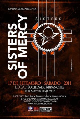 Sisters of Mercy em Curitiba - Reprodução do Cartaz de Divulgação do show