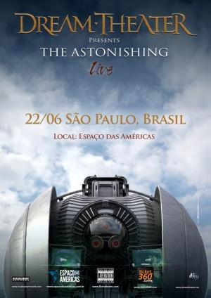 Dream Theater em SP - Reprodução do Cartaz de Divulgação