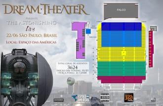 Dream Theater em SP - Cartaz de divulgação