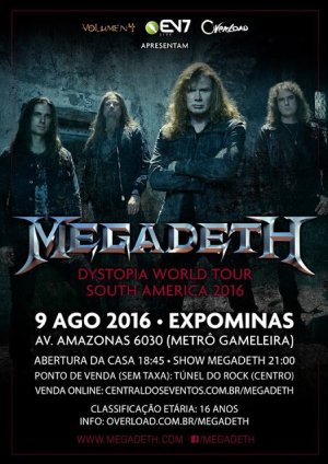 Megadeth - Cartaz do Show de BH
