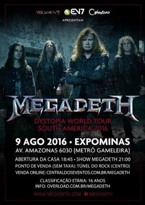 Megadeth - Cartaz do Show de BH