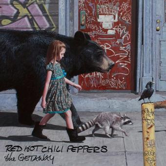 "Reprodução da capa do disco ""The Getaway"", do Red Hot Chili Peppers"