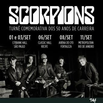 Scorpions no Brasil - Cartaz de Divulgação