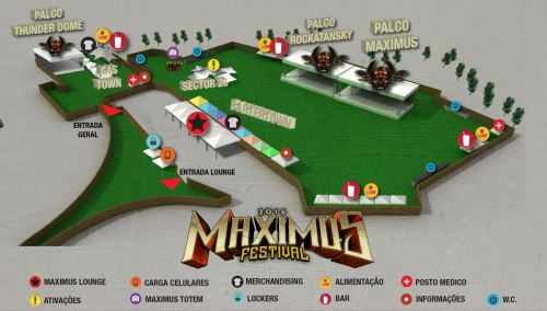 Mapa do Maximus Festival
