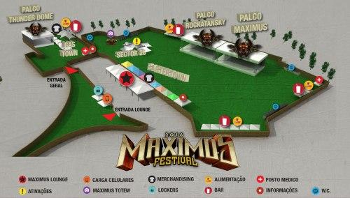 Mapa do Maximus Festival