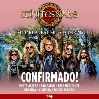 Whitesnake - Cartaz da Turnê Brasileira de 2016 - Divulgação: Time For Fun