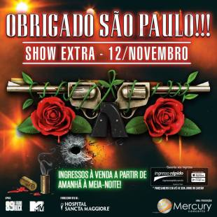 Guns em SP - Cartaz do show Extra