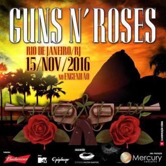 Guns N' Roses no Rio - Reprodução do Cartaz do show