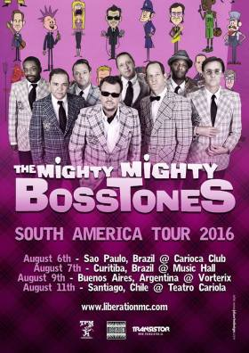 The Mighty Mighty Bosstones - Reprodução do cartaz da turnê sul-americana