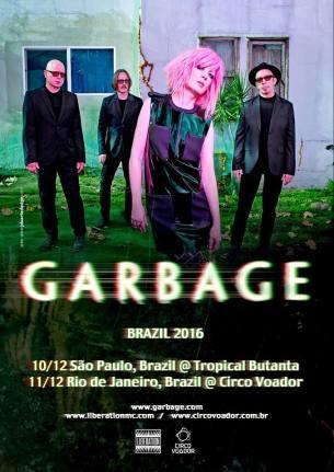 Garbage no Brasil - Reprodução do Cartaz de Divulgação dos Shows