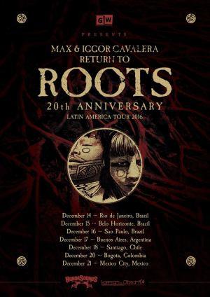 """""""Return to Roots"""" - Reprodução do cartaz da turnê pela América Latina"""