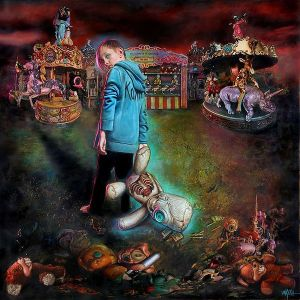 "Reprodução da capa do disco ""The Serenity Of Suffering"", do Korn"