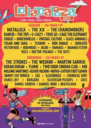 Cartaz do Lollapalooza 2017