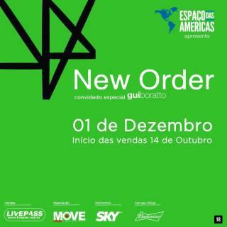 New Order em SP - Reprodução do Cartaz de Divulgação do Show