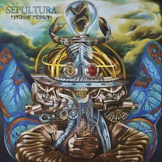 """Sepultura - Reprodução da capa do álbum """"Machine Messiah"""""""
