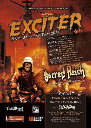 Exciter - Pôster da turnê sul-americana de 2017