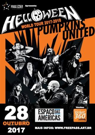 Helloween em SP - Cartaz de Divulgação do show - Foto: Divulgação Free Pass