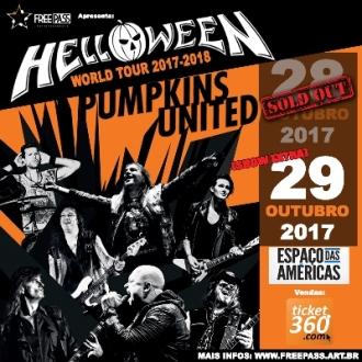 Helloween em SP - Reprodução do Cartaz do show extra