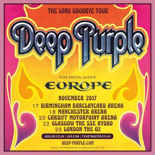 Deep Purple - Cartaz de Divulgação de turnê