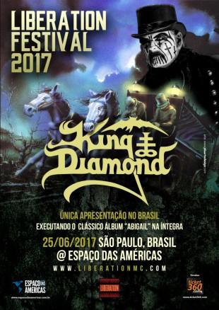 King Diamond no Liberation Festival - Cartaz de Divulgação