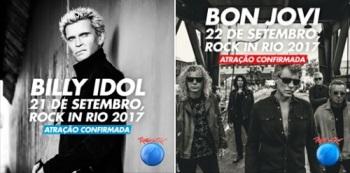 Bon Jovi e Billy Idol no Rock in Rio - Fotos de Divulgação