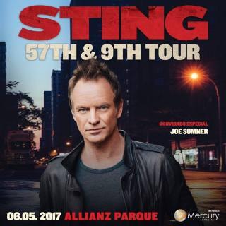 Sting na Arena do Palmeiras - Reprodução do Cartaz de Divulgação