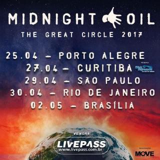 Midnight Oil no Brasil - Cartaz de Divulgação