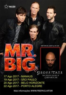 Mr. Big no Brasil - Cartaz de Divulgação
