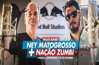Ney Matogrosso e Jorge Du Peixe, do Nação Zumbi - Foto: Divulgação Rock in Rio