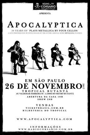 Apocalyptica em São Paulo - Cartaz de Divulgação