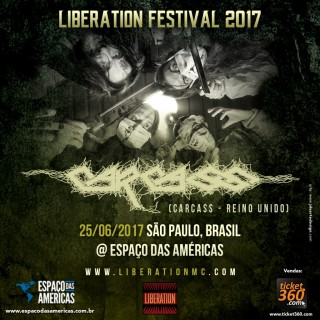 Carcass no Liberation Festival - Cartaz de Divulgação