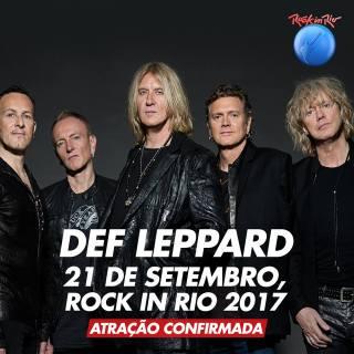 Def Leppard no Rock in Rio - Banner de Divulgação
