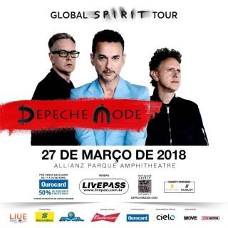 Depeche Mode em SP - Cartaz de Divulgação
