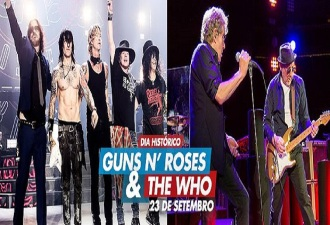 Guns e The Who no Rock in Rio - Cartaz do Anúncio
