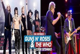 Guns e The Who no Rock in Rio - Cartaz do Anúncio