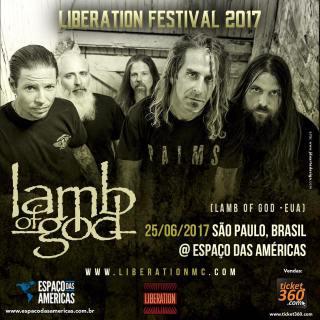 Lamb of God no Liberation Festival - Cartaz de Divulgação