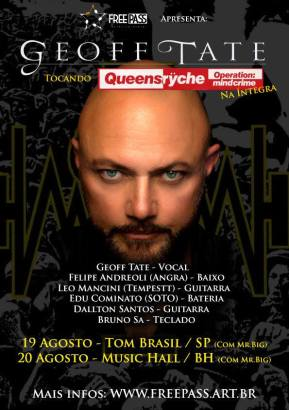Geoff Tate no Brasil - Cartaz de Divulgação