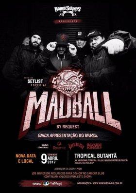 Madball - Cartaz do show em SP