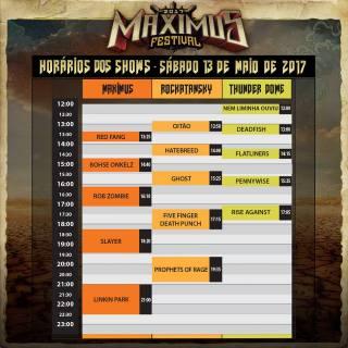 Maximus - Reprodução da tabela de horários