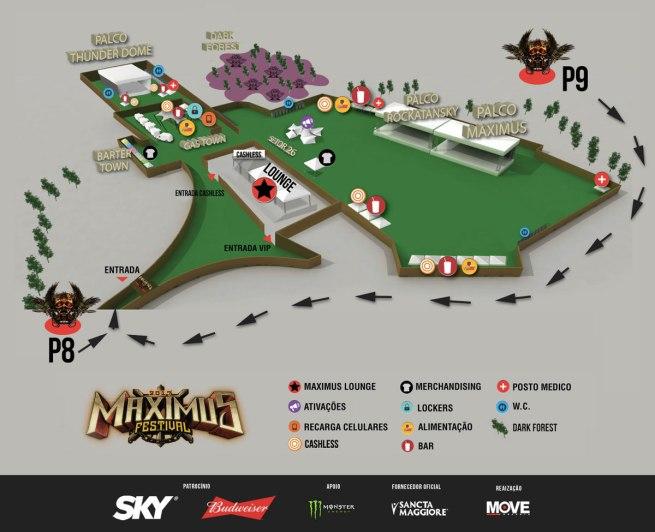 Maximus Festival - Mapa de 2017