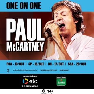 Paul McCartney no Brasil - Cartaz de Divulgação