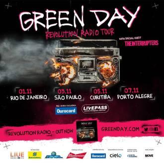 Green Day no Brasil - Cartaz de Divulgação