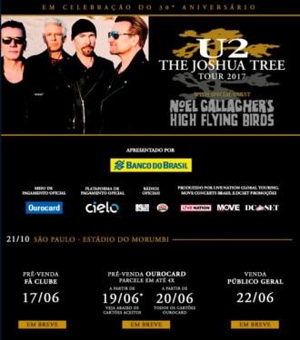 U2 em SP - Cartaz de Divulgação