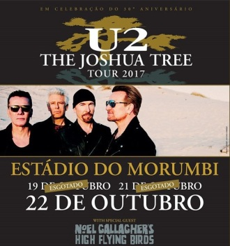 U2 no Brasil - Cartaz de Divulgação do 3º show em SP
