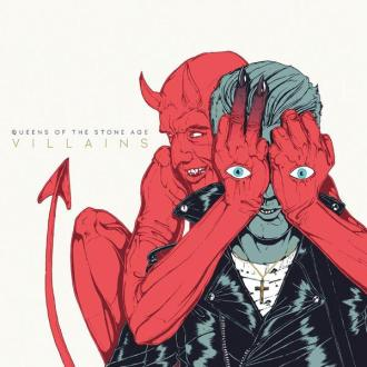 "Queens of The Stone Age - Reprodução da capa do disco ""Villains"""