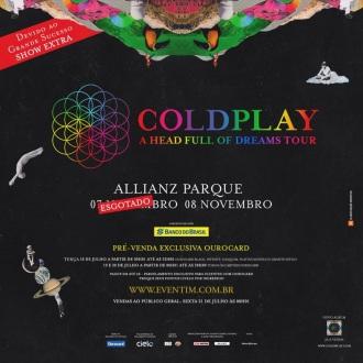 Coldplay em SP - Cartaz de Divulgação do show extra